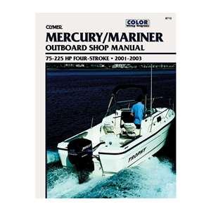 clymer mercury mariner 75 225 hp 4 stroke outboards 2001. Black Bedroom Furniture Sets. Home Design Ideas
